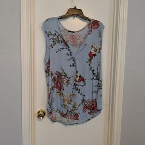 Papermoon Sleeveless top, blue floral